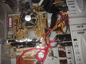 Il nostro Computer-Cavia a cuore aperto.